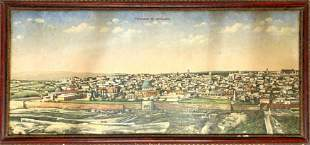 Panorama View of Jerusalem - L. Ferid - 19th Century