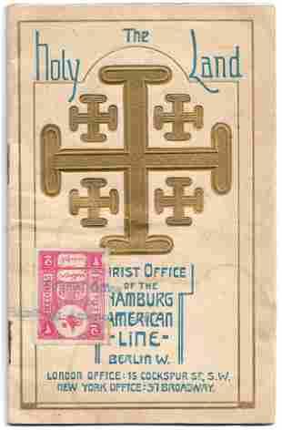 The Holy Land Tours - Hamburg American Line - 1911