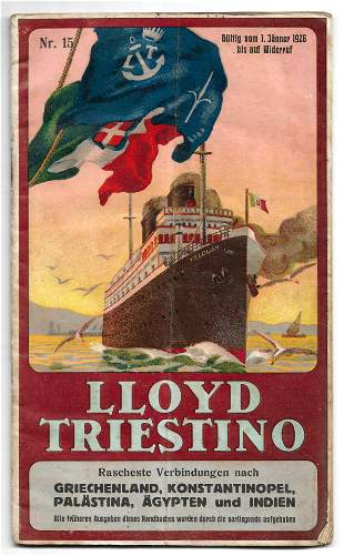 Holy Land & Middle East - Lloyd Triestino Line - 1926
