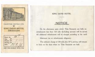 Collection of items - King David Hotel in Jerusalem