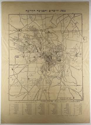 Two Maps of Jerusalem - Monsohn - 1920s