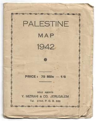 Palestine Map - Y. Mizrahi - 1942