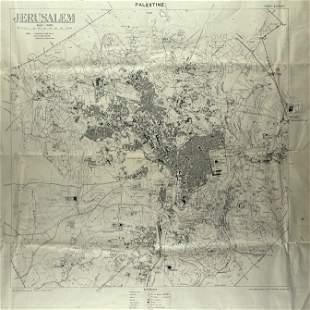 Detailed Map of Jerusalem - Survey of Palestine - 1925