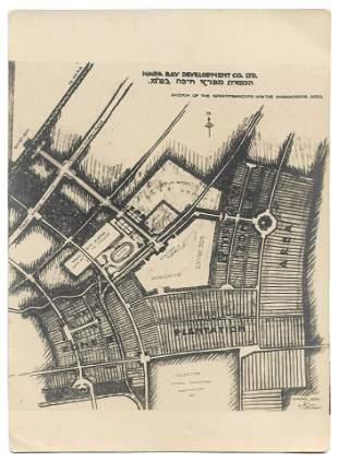 Proposed Sportsground Map - Haifa, Palestine - 1926