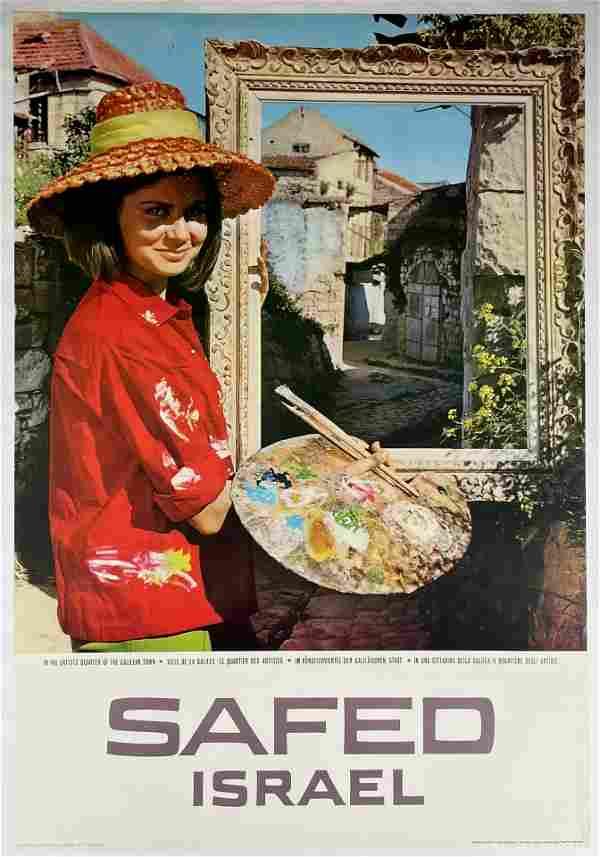 Tourism Poster of Safed, Israel - Artists' Quarter