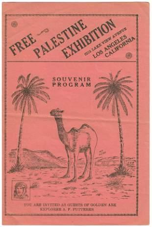 Palestine Exhibition Souvenir Program - Los Angeles