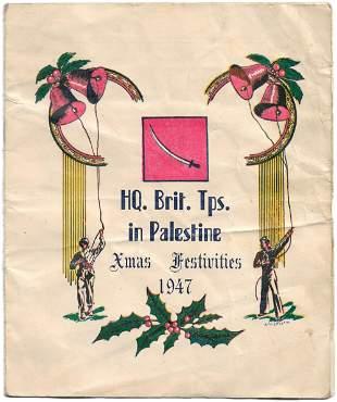 Program of Last Christmas in Palestine - 1947
