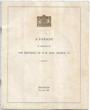 King George VI Birthday Parade - Jerusalem, 1946