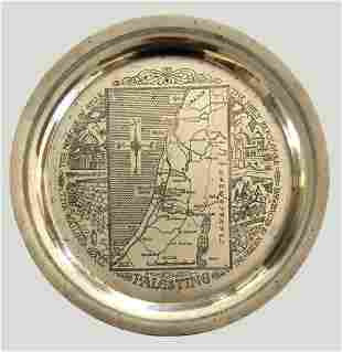 Souvenir Plate Engraved with a Map of Palestine