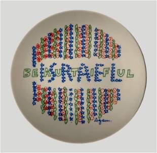 Beautiful Israel - Ceramic Plate - Yaacov Agam
