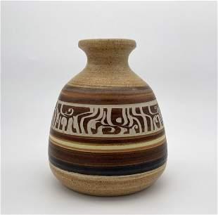 Ceramic Vase - Abstract Design - Bror Hail, Israel
