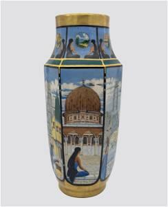 Large Porcelain Vase - Palestine - France, 1928