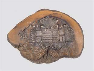 Olive Wood Plaque - Jerusalem - 19th Century
