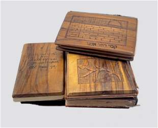 Collection of Books in Olive Wood Binding - Palestine