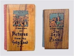 2 Miniature Books in Olive Wood Binding - Palestine