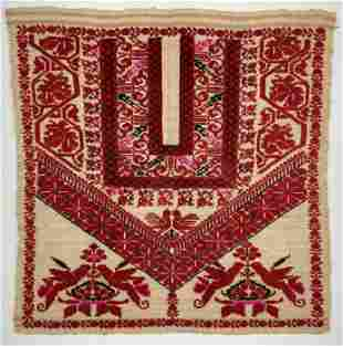 Palestinian Embroidery Panel - Early 20th Century