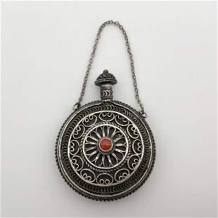 Silver Filigree Perfume Bottle - Palestine