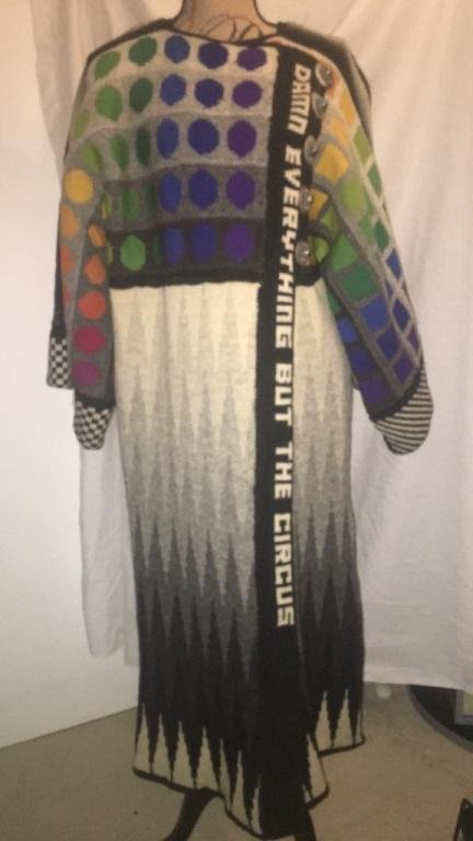 Damn Everything but the Circus Multi Color Sweater Wool