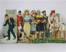 STANDUP DIE CUT SPORTING FIGURES FROM THE EARLY 1900S