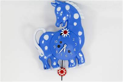 LUX/WESTCLOX CALICO HORSE ANIMATED CLOCK (1958)