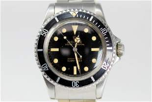Vintage Rolex Oyster Perpetual Submariner Wristwatch
