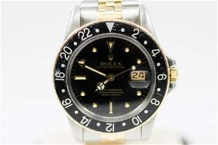 Vintage Two-Tone Rolex Oyster Perpetual GMT-Master with