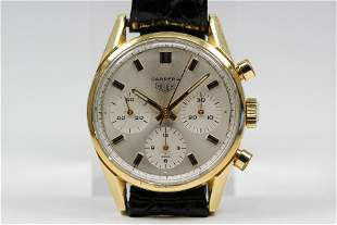 Vintage Tag Heuer Carrera Chronograph Wristwatch in 18k