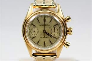 Vintage Rolex Oyster Chronograph Wristwatch in 18k