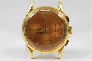 Vintage Gubelin Chronograph Wristwatch in 18k Yellow