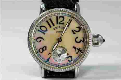 Krieger Gigantium Mother of Pearl Wristwatch with
