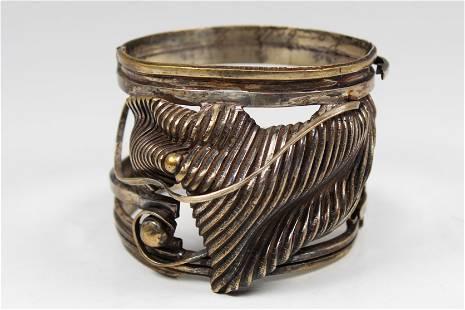 Antique Sterling Silver Robelli Cuff Bracelet