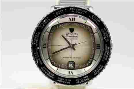 Vintage Nivada Grenchen Leonardo Da Vinci Automatic