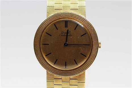 Vintage Piaget Automatic Wristwatch and Bracelet in 18k