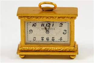 Antique Holl Watch Miniature Table Clock