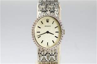 Vintage Rolex Ladies Wristwatch in 18k White Gold with