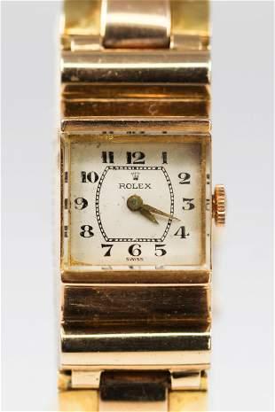 Antique Rolex Ladies Square Wristwatch with Rolex