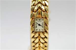 Vintage Cartier Ladies Wristwatch in 18k Yellow Gold