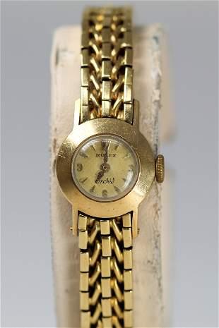 Antique Rolex Ladies Orchid Wristwatch in 18k Yellow