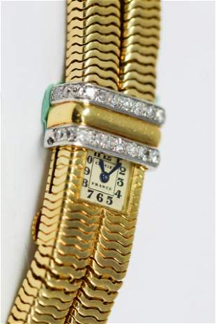 Antique Cartier Ladies Shutter Oversized Bracelet