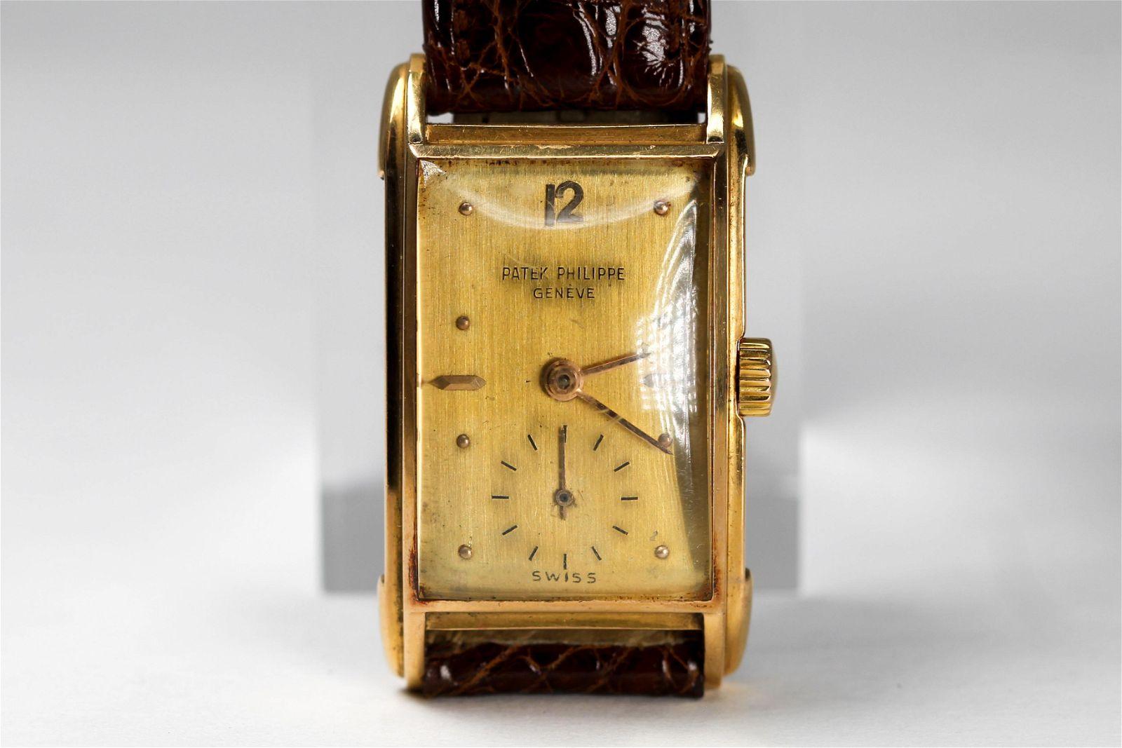 Vintage Patek Philippe & Co. Geneve Rectangular