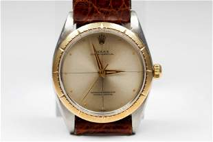 Vintage Two-Tone Rolex Oyster Perpetual Wristwatch