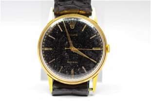 Vintage Rolex Precison Wristwatch in 18k Yellow Gold