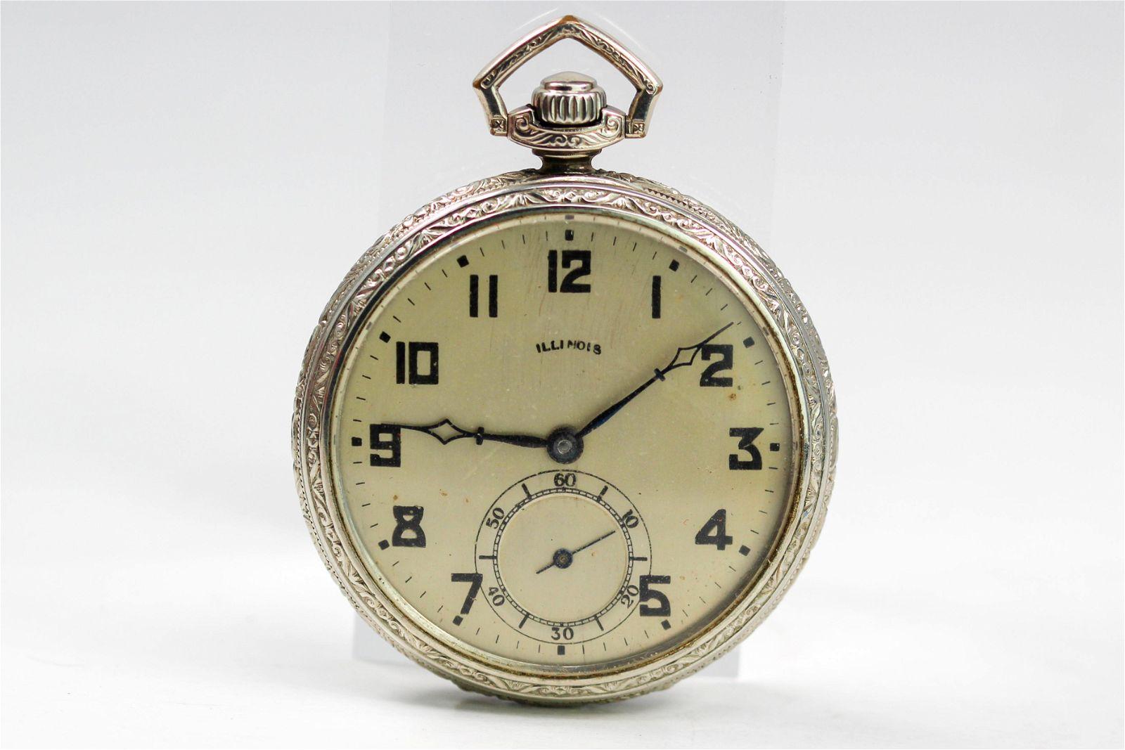Vintage Illinois Pocketwatch in 14k Gold Filled