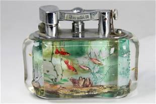 Antique Dunhill Aquarium Table Lighter