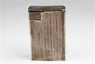 Antique Dunhill Sterling Silver Pocket Lighter