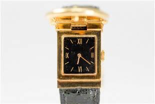 Vintage Hermes Ladies Buckle Rectangular Wristwatch in