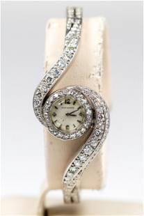 Antique Movado Ladies Wristwatch with Factory Diamonds