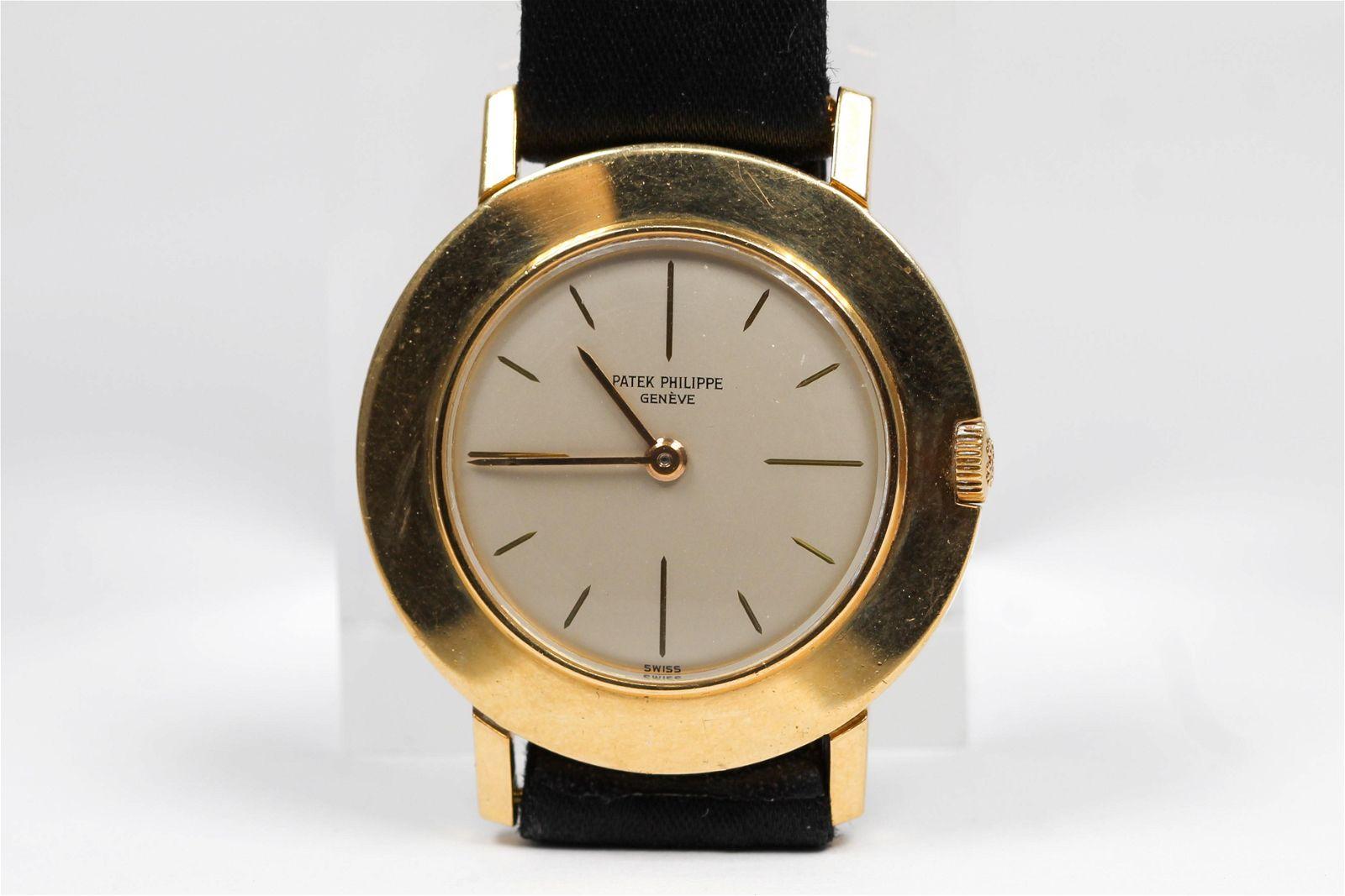 Vintage Patek Philippe Geneve Wristwatch in 18k Yellow
