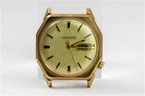 Vintage Bulova Accutron with Day and Date Wristwatch in