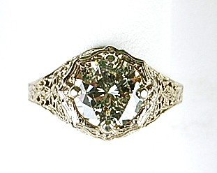 ANTIQUE GOLD DIAMOND ENGAGEMENT RING 2.64 CTS!